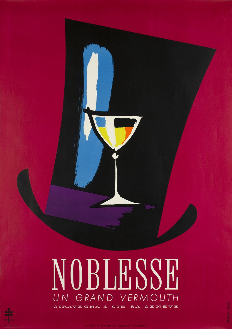 Vermouth Noblesse – Vintage poster – Herbert LEUPIN – 1950