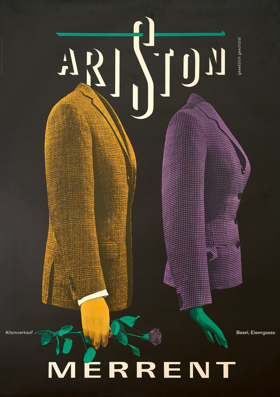 Ariston, Merrent – Vintage poster –  ANONYME – 1955