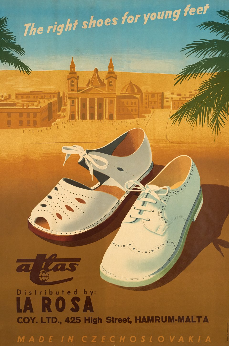 Atlas, The right shoes for young feet – Affiche ancienne –  ANONYME – 1950