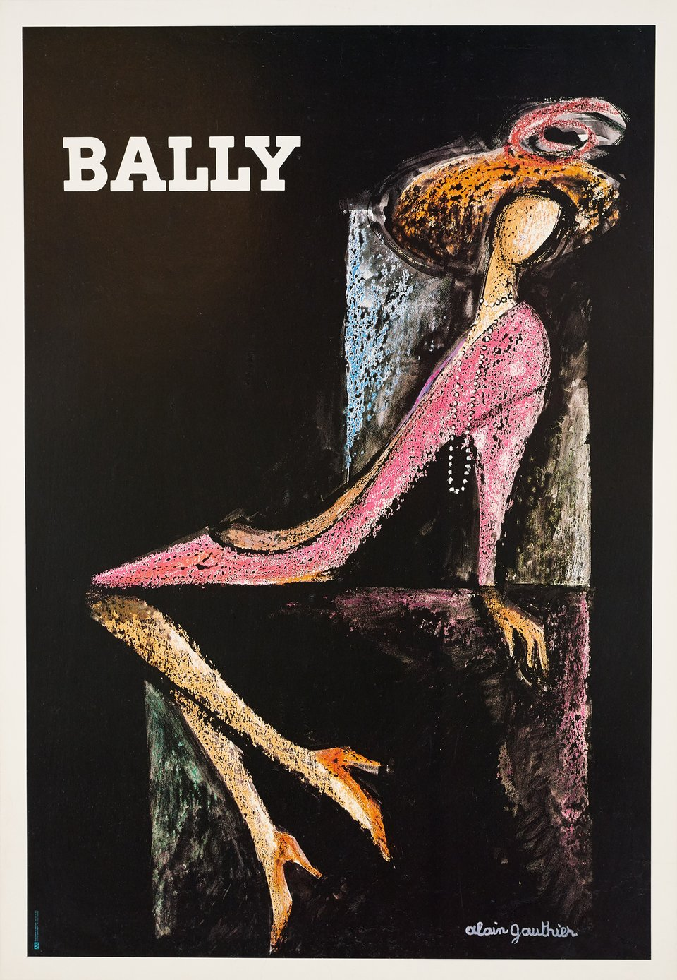 Bally – Affiche ancienne – Alain GAUTHIER – 1970