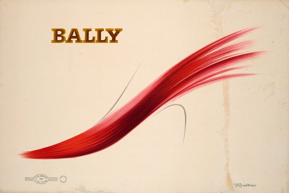 Bally – Affiche ancienne – Roger EXCOFFON – 1966