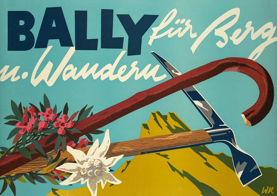 Bally für Berg – Affiche ancienne – MONOGRAMM – 1943