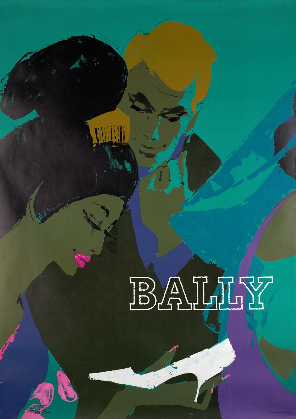 Bally – Vintage poster – Donald BRUN – 1964