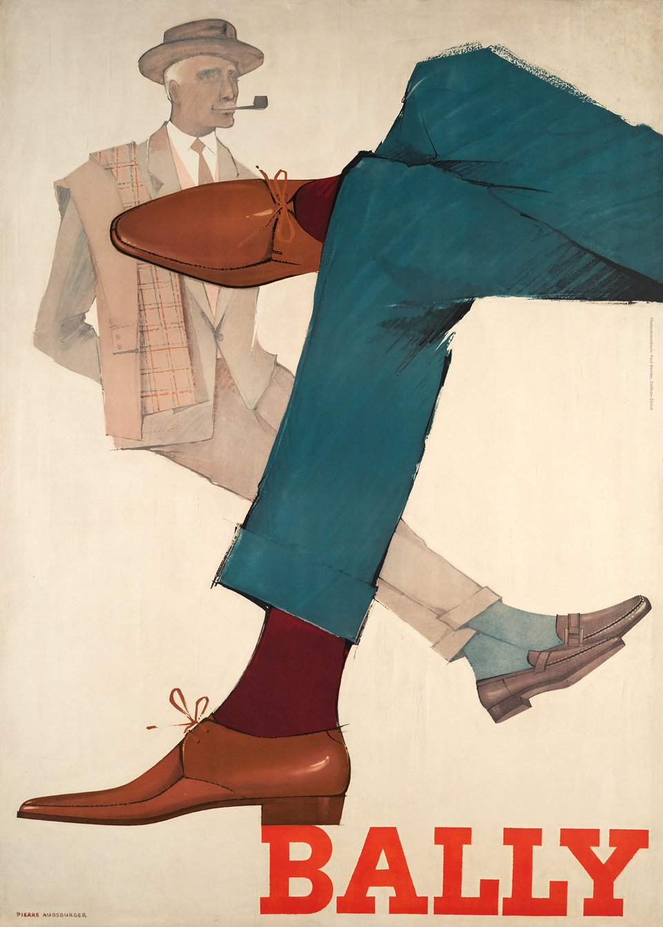 Bally – Affiche ancienne – Pierre AUGSBURGER – 1959