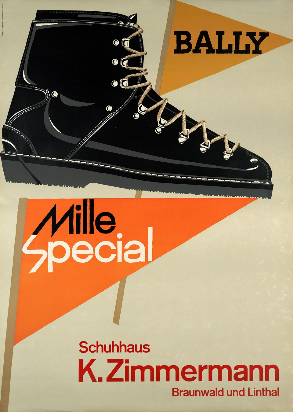 Bally, Mille Special – Affiche ancienne – Ueli BACHMANN – 1961