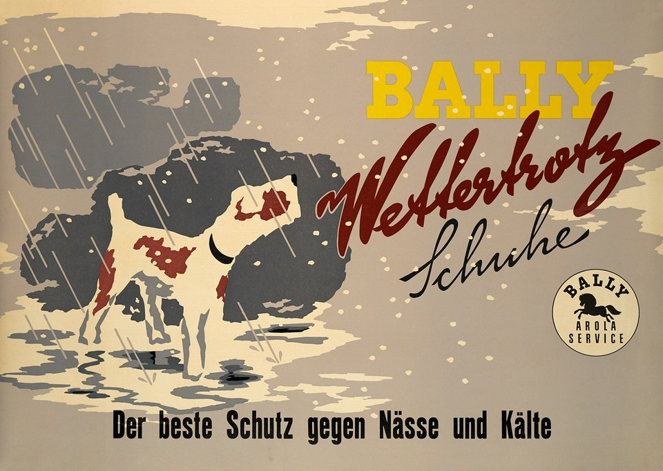 Bally Wettertrotz Schuhe – Vintage poster – ANONYME – 1950