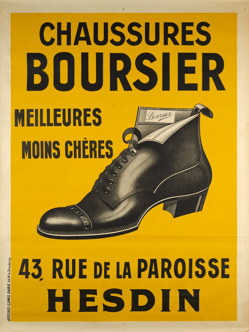 Chaussures Boursier – Affiche ancienne –  ANONYME – 1910