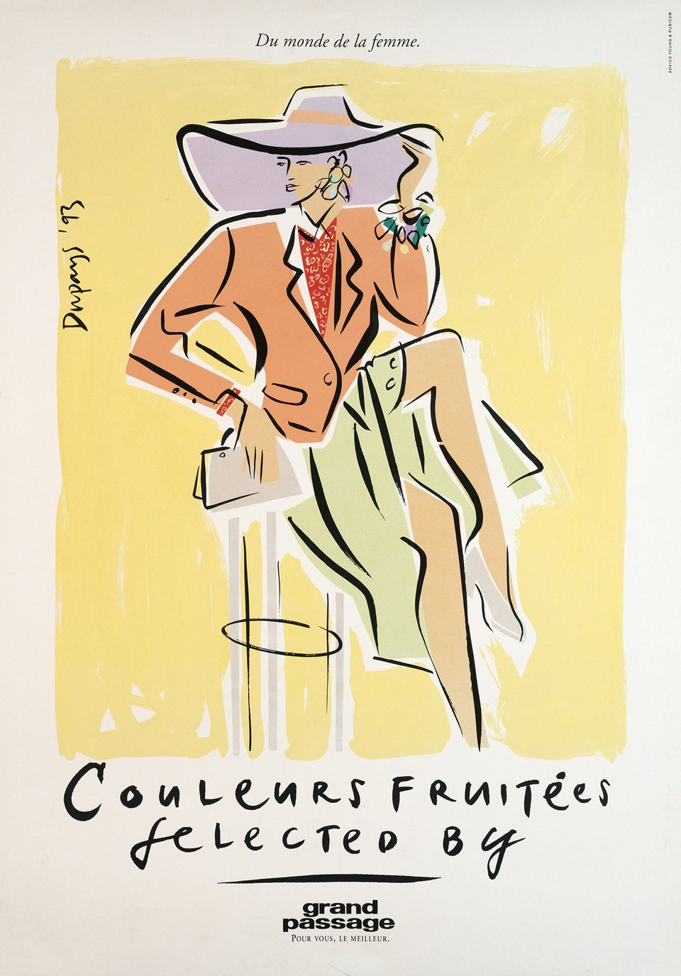 Couleurs fruitées selected by Grand Passage – Vintage poster – DUPAYS – 1993
