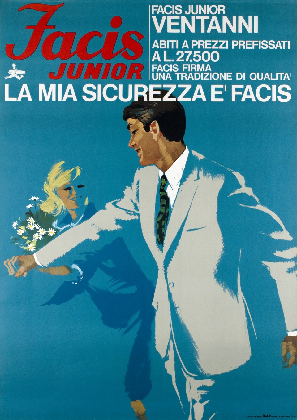 Facis Junior, La mia sicurezza e Facis – Vintage poster – Ferenc PINTER – 1965