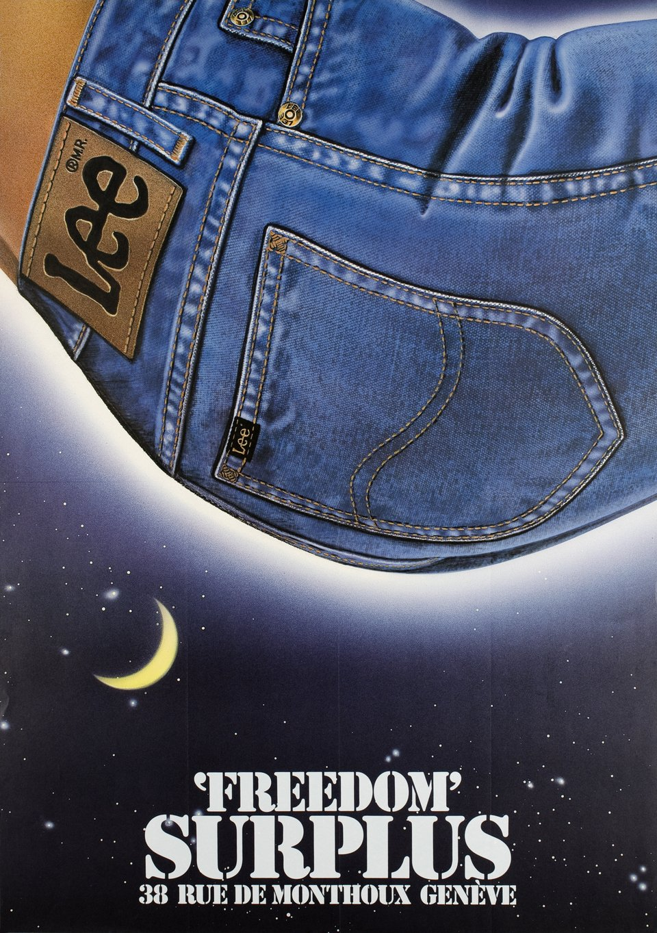 Freedom Surplus, Genève – Affiche ancienne –  ANONYME – 1980