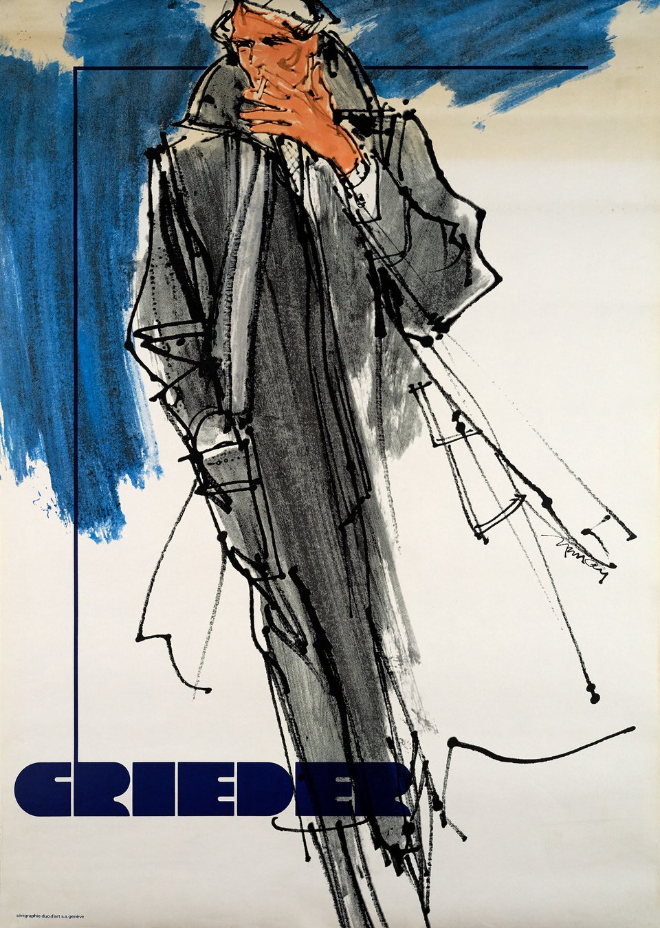 Grieder – Affiche ancienne – Smith MURAY – 1980