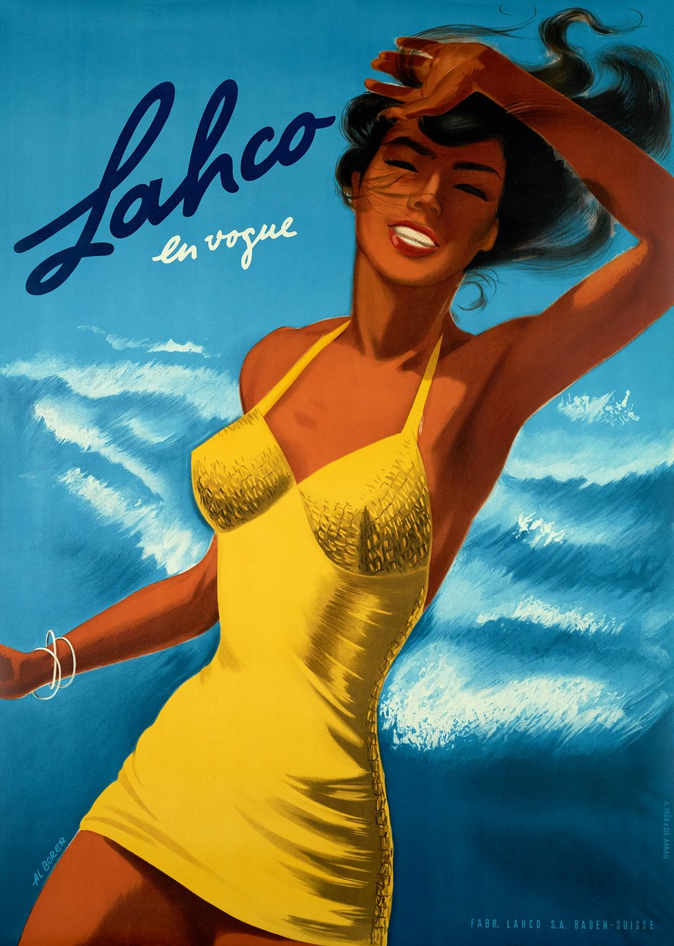Lahco, En vogue – Affiche ancienne – AIbert BORER – 1950