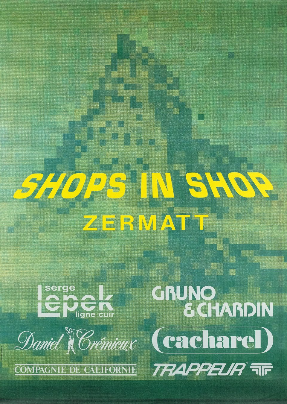 Shops in Shop Zermatt – Affiche ancienne – ANONYME – 1990