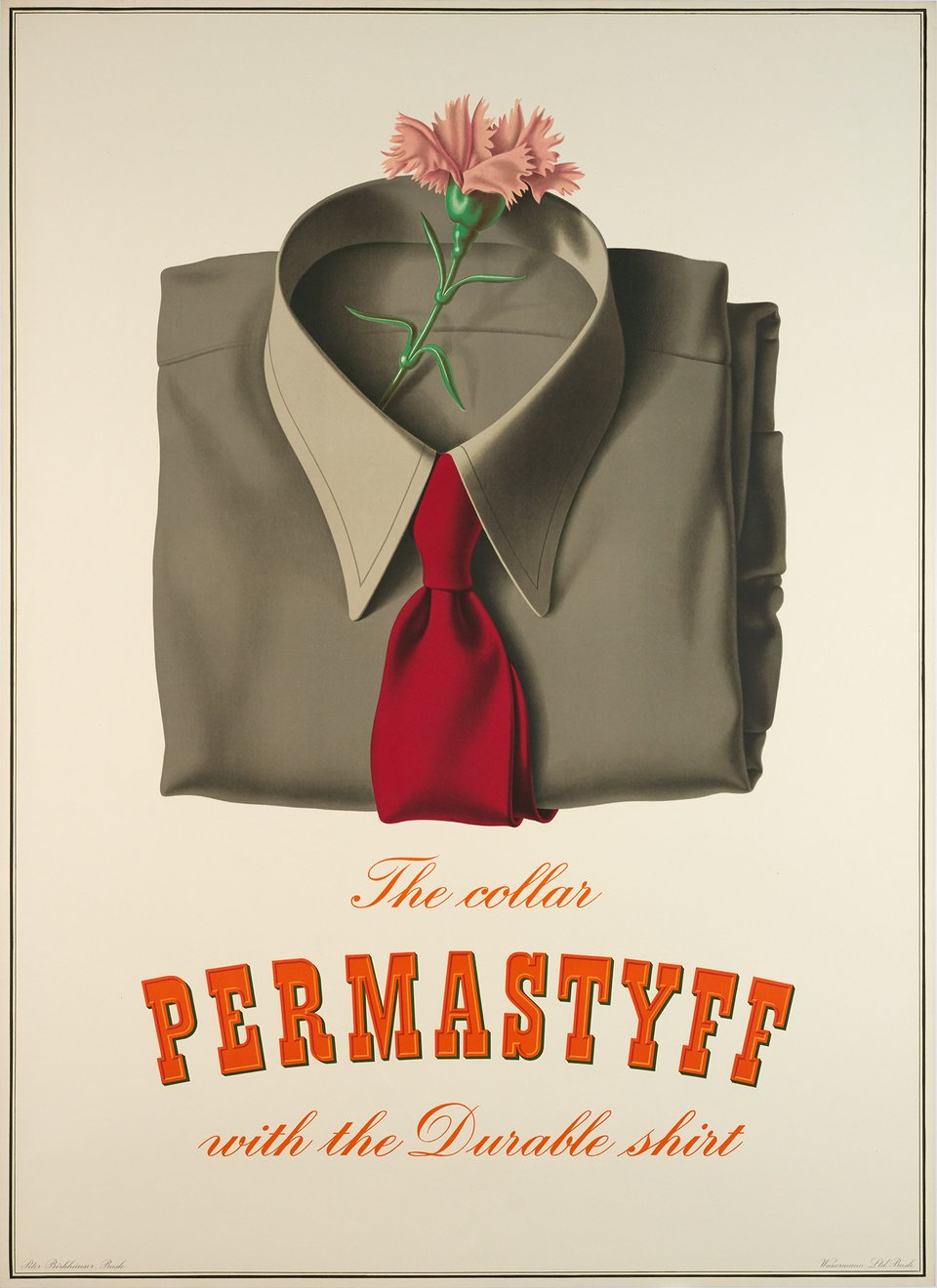 The collar Permastyff with the durable shirt – Vintage poster – Peter BIRKHAUSER – 1943