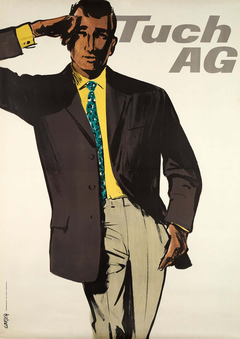 Tuch AG – Affiche ancienne – Hans LOOSER – 1950