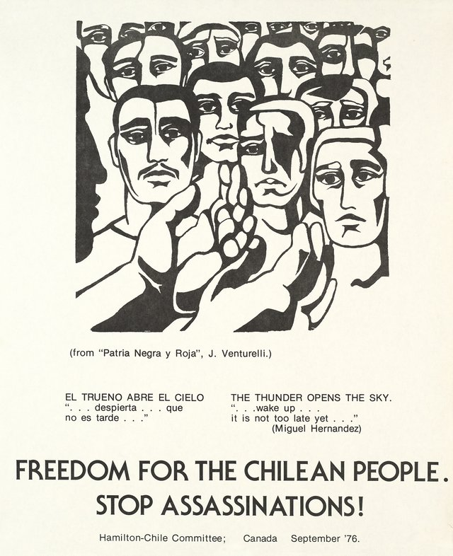 Freedom for the Chilean People, Stop assassinations!