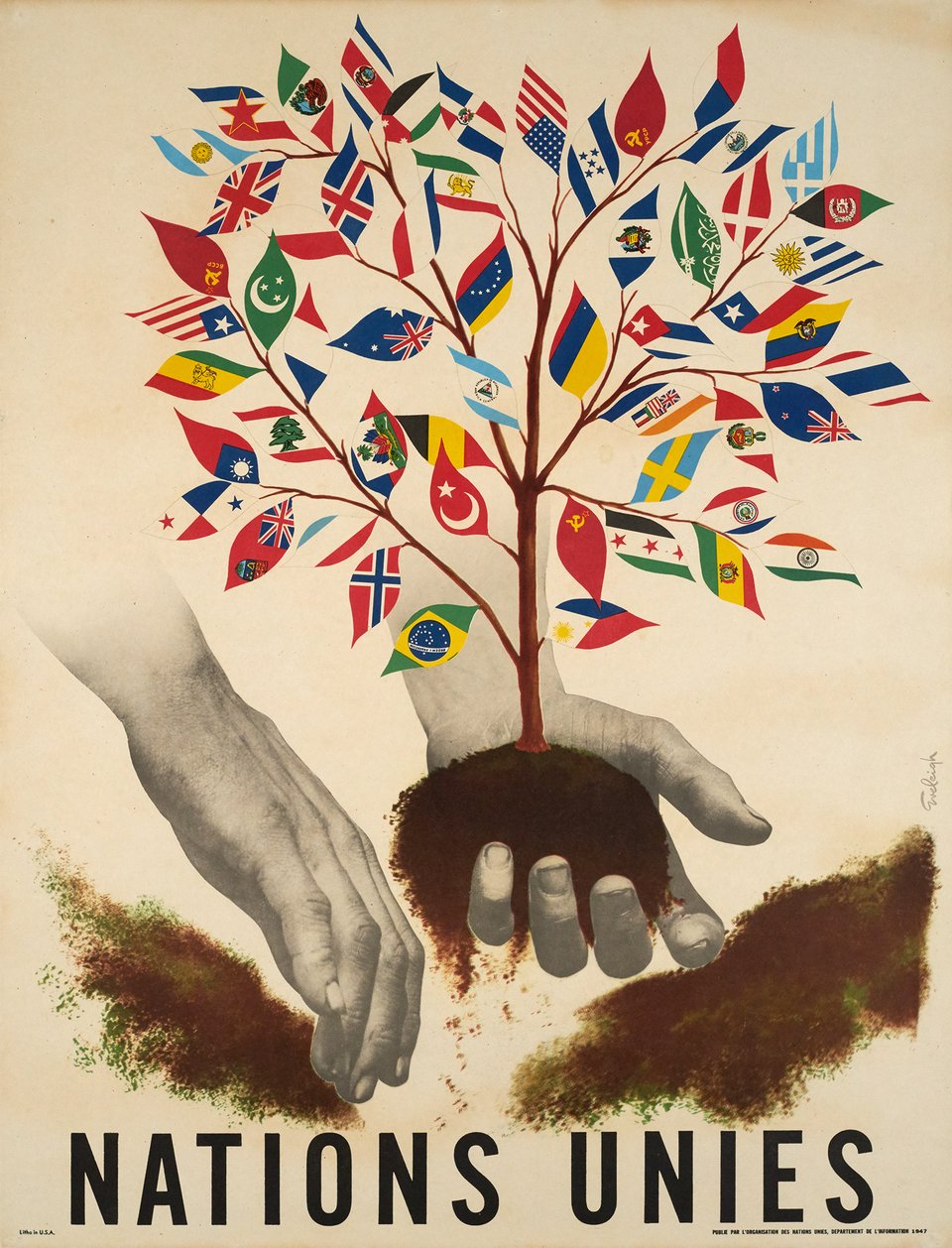 Nations Unies – Vintage poster – Henri EVELEIGH – 1947