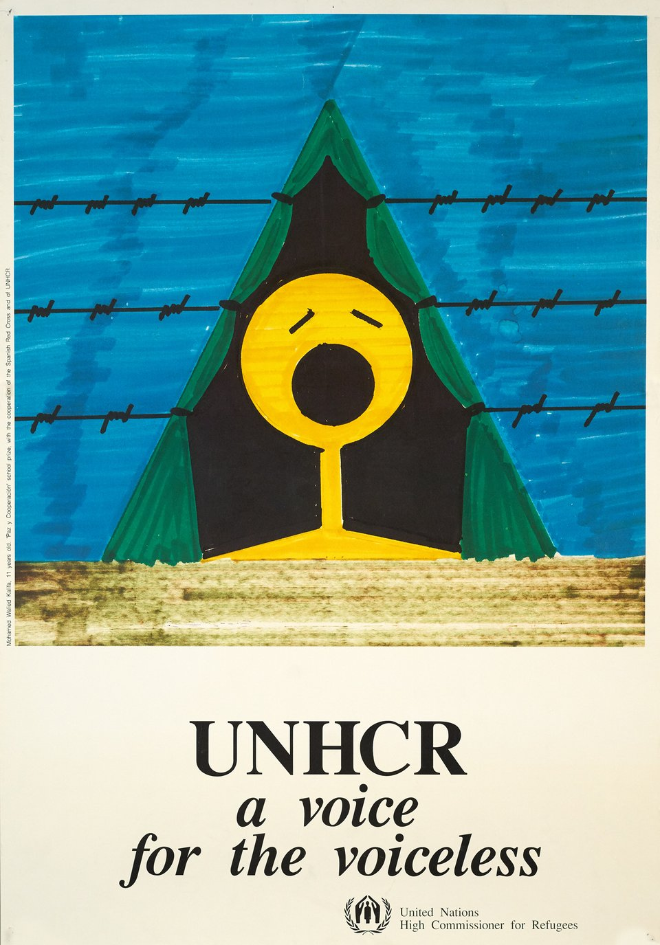 UNHCR, A voice for the voiceless – Affiche ancienne – Mohamed WALIED KALIFA – 1975