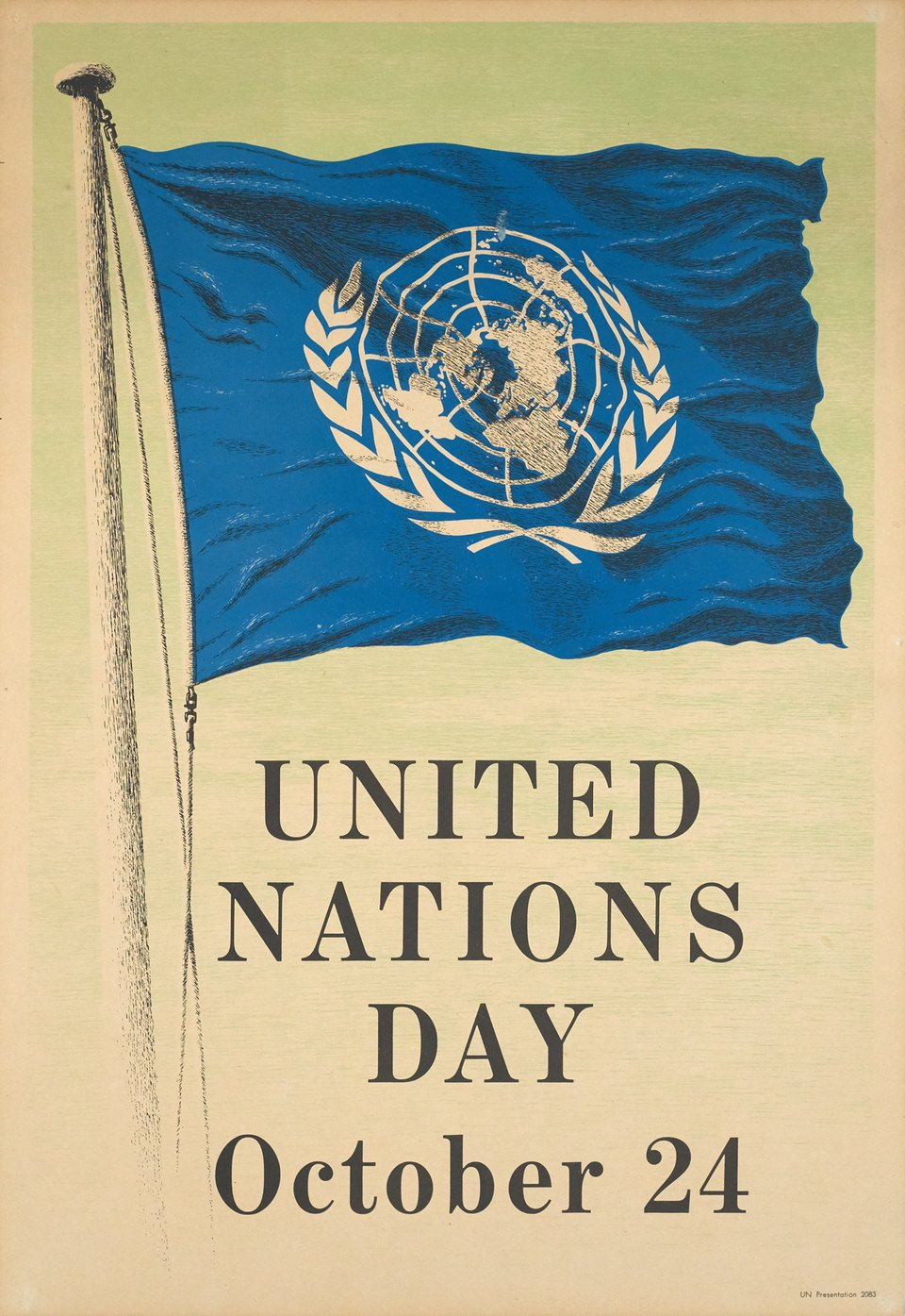 United Nations Day, October 24 – Vintage poster –  ANONYME – 1950