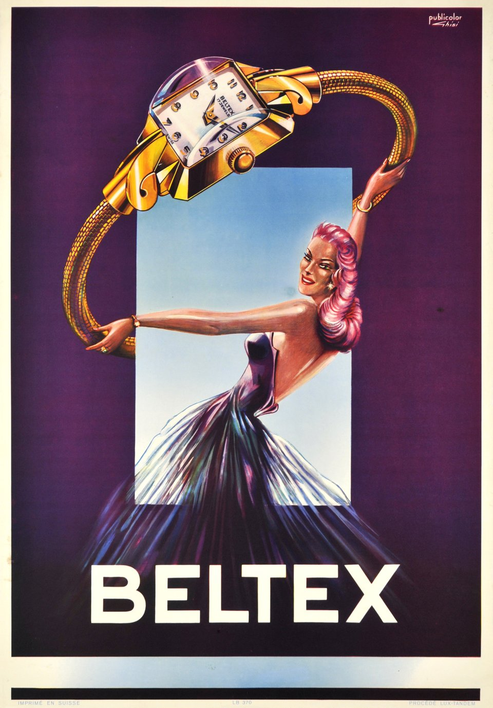 Beltex – Affiche ancienne – GHISI – 1950