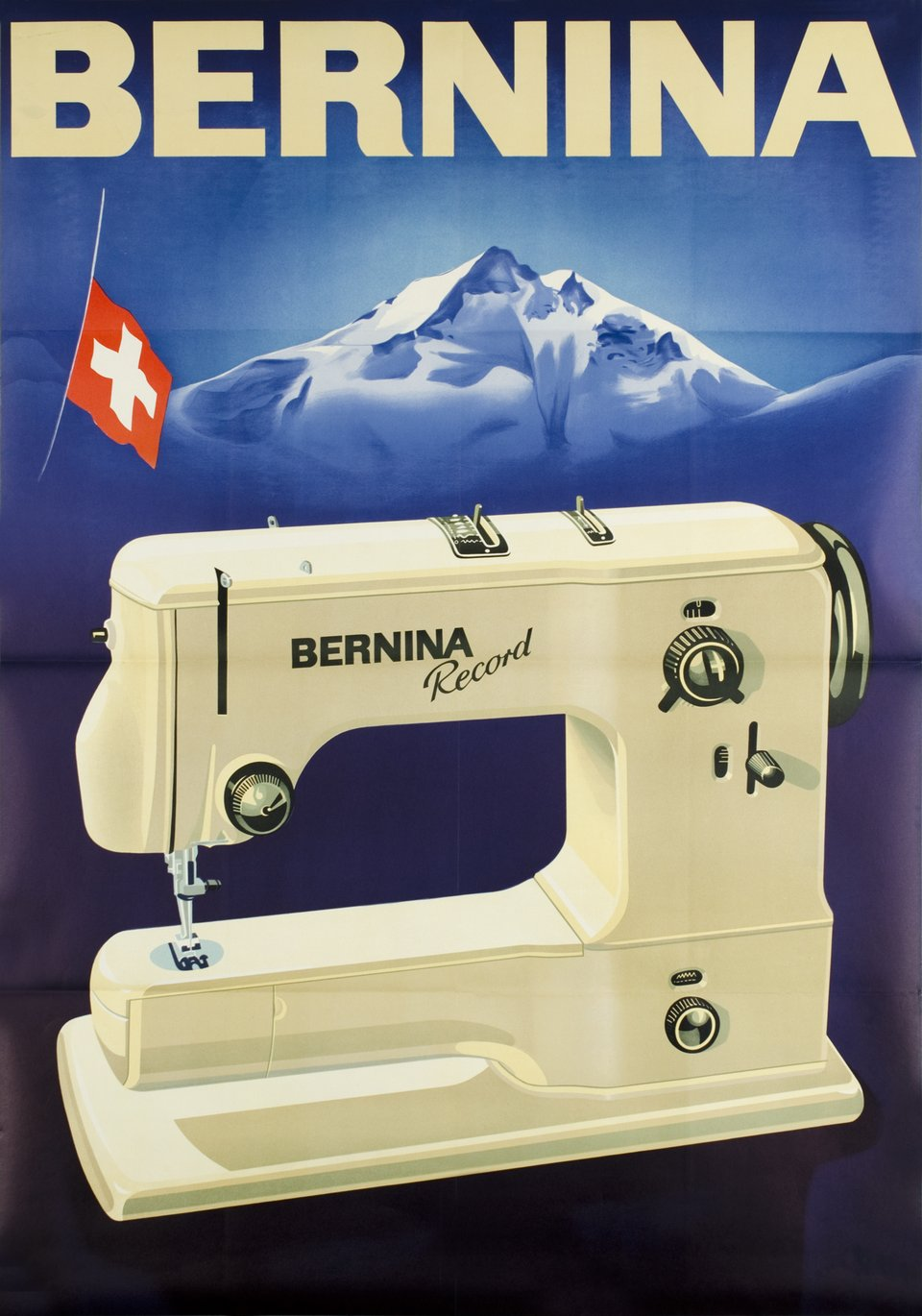 Bernina – Affiche ancienne –  ANONYME – 1955