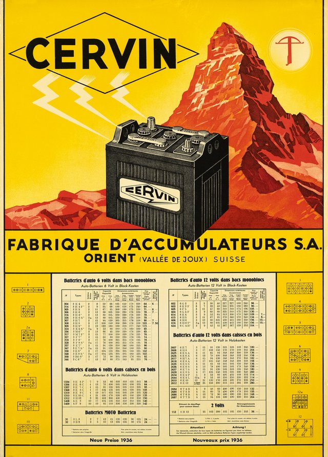 Cervin, Fabrique d'accumulateurs
