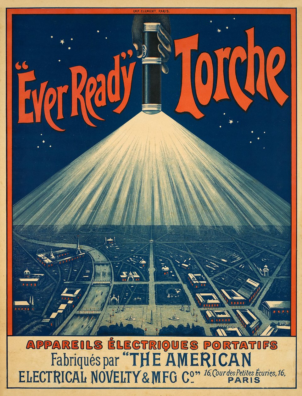 Ever Ready Torche – Affiche ancienne – ANONYME – 1900