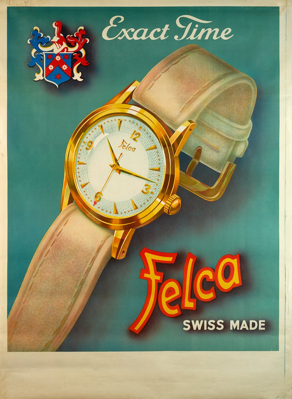 Felca, Exact Time – Affiche ancienne – ANONYME – 1940
