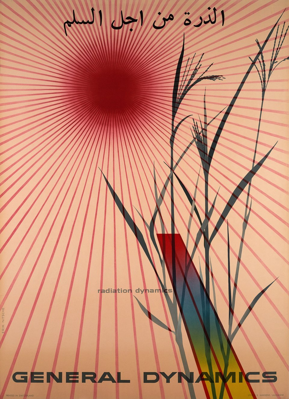 General Dynamics, Radiation dynamics – Vintage poster – Erik NITSCHE – 1956