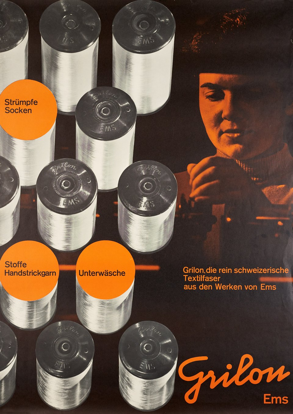 Grilon Ems – Affiche ancienne – Friedrich ENGESSER – 1956
