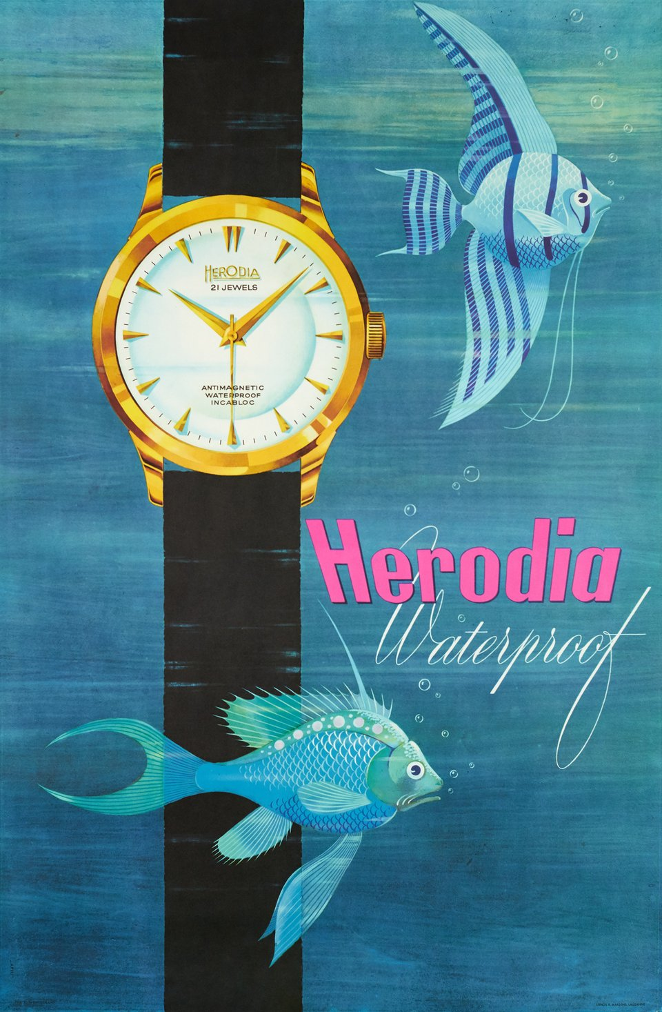 Herodia Waterproof – Affiche ancienne – ANONYMOUS – 1958