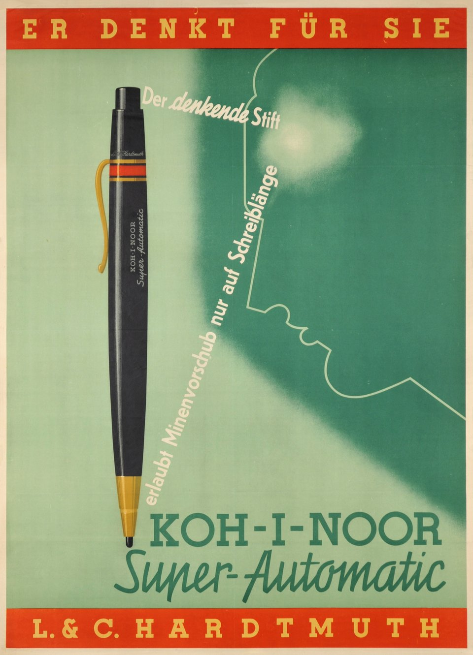 Koh-I-Noor Super-Automatic – Affiche ancienne –  ANONYME – 1930