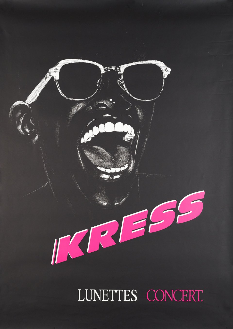Kress, Lunettes Concert – Affiche ancienne –  ANONYME – 1995