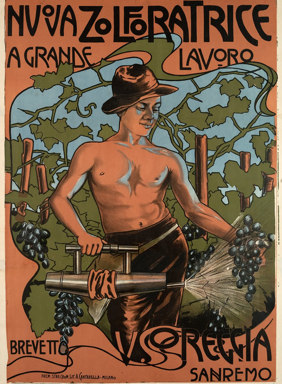 Nuova Zolforatrice – Affiche ancienne – ANONYME – 1910
