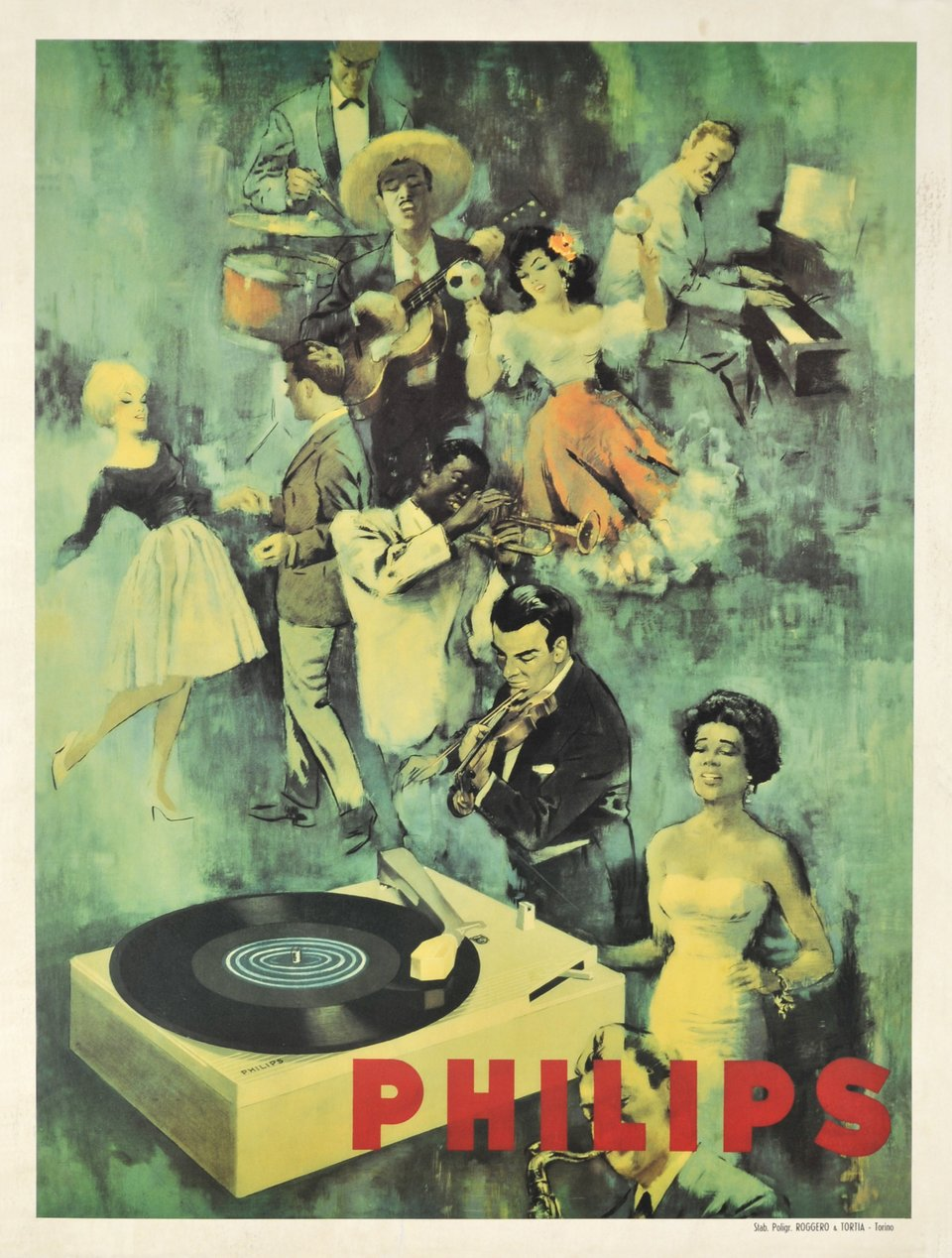 Philips – Vintage poster –  ANONYME – 1955