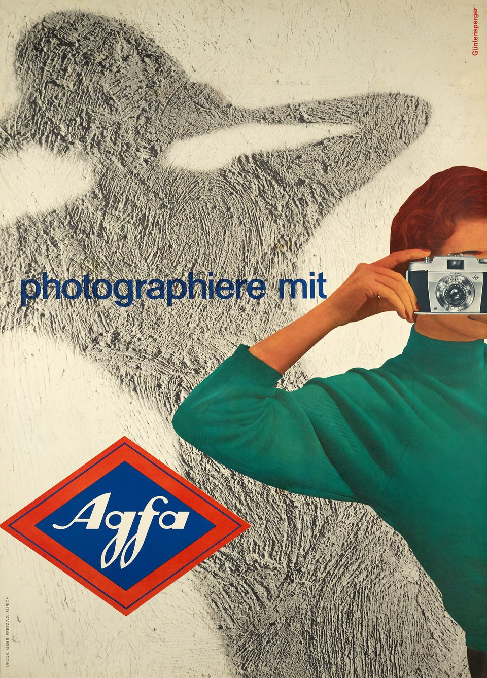 Photographiere mit Agfa – Affiche ancienne – Wilfried GUNTENSPERGER – 1957