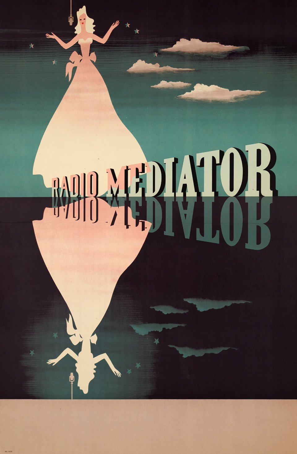 Radio Mediator – Affiche ancienne –  ANONYME – 1950