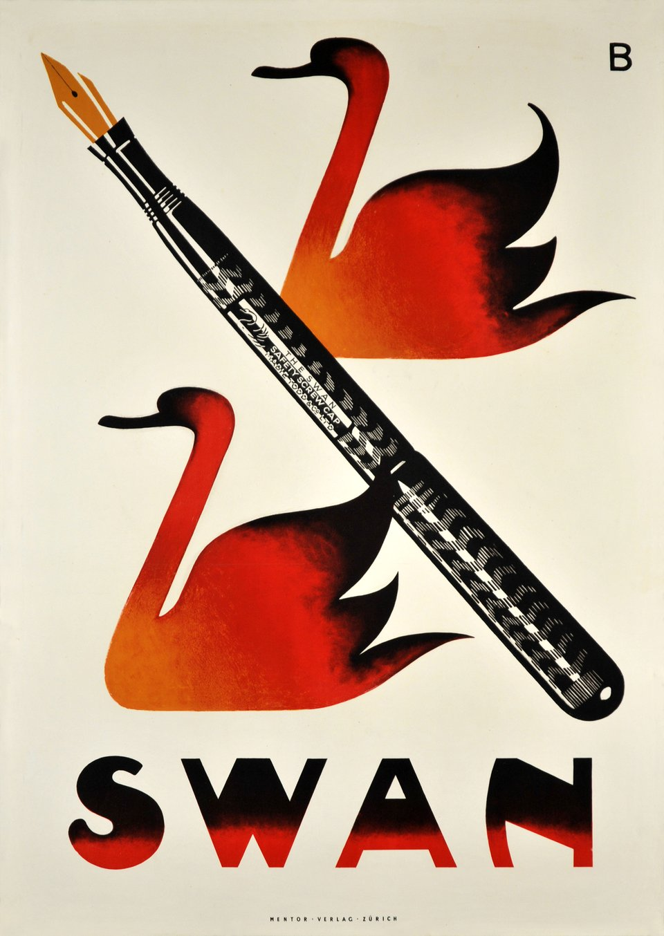 Swan – Vintage poster – Otto BAUMBERGER – 1919