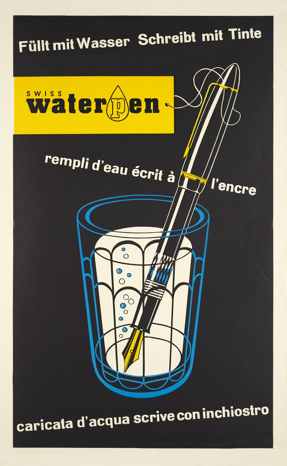 Swiss Waterpen – Affiche ancienne – ANONYME – 1950