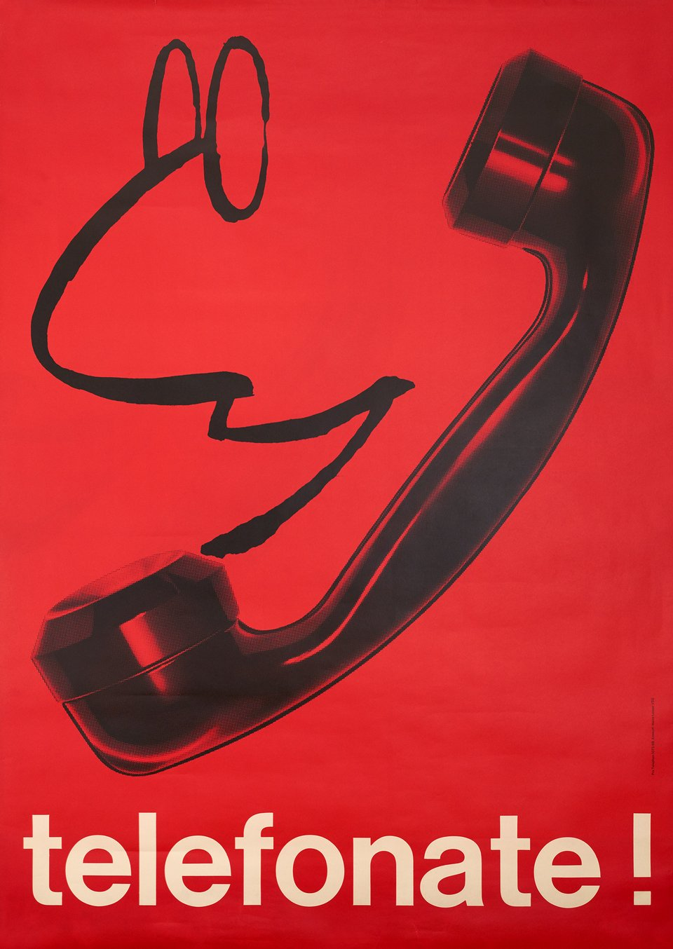 Telefonate! – Affiche ancienne – Hans LOOSER – 1968