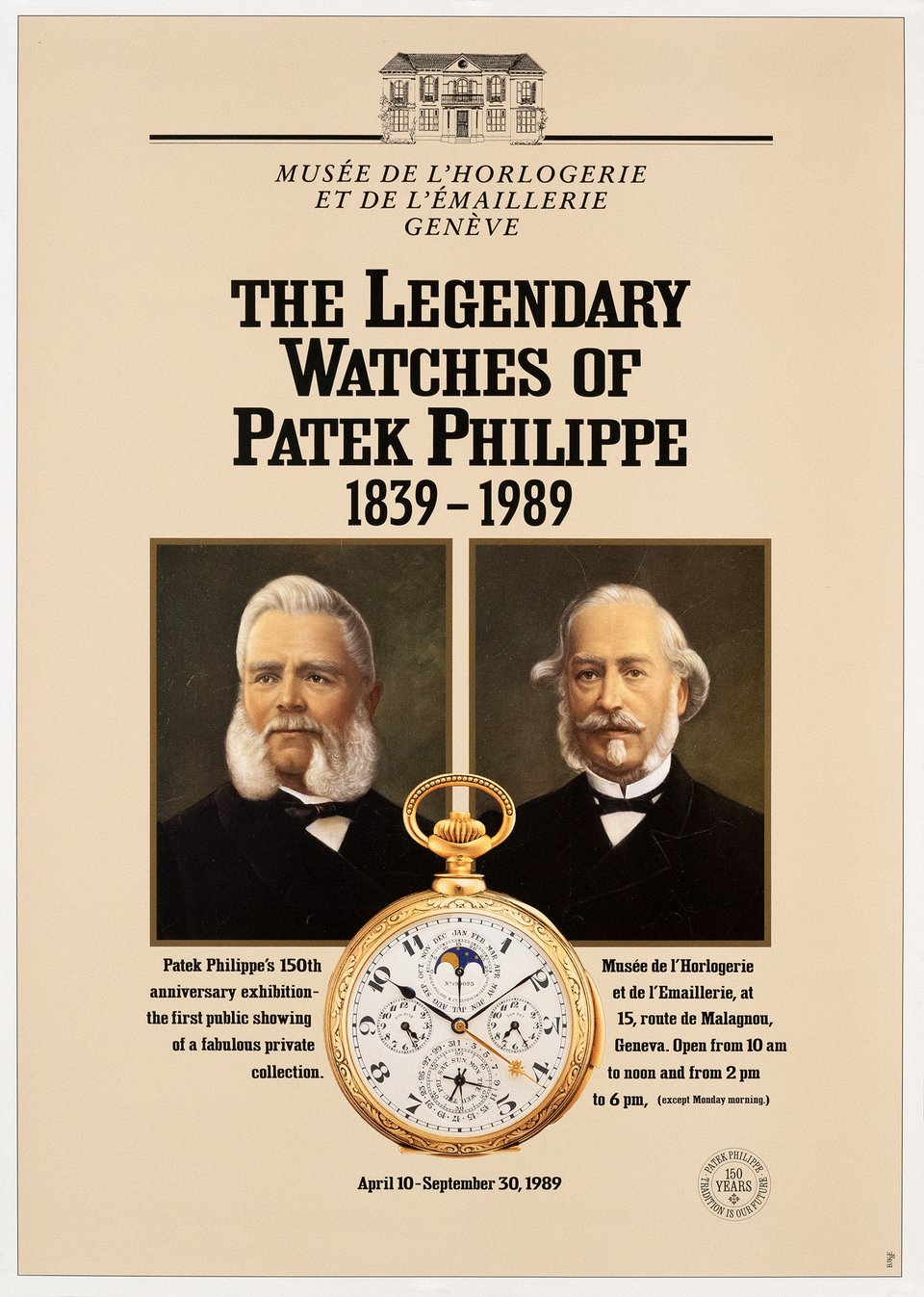 The legendary watches of Patek Philippe – Vintage poster – ANONYME – 1989