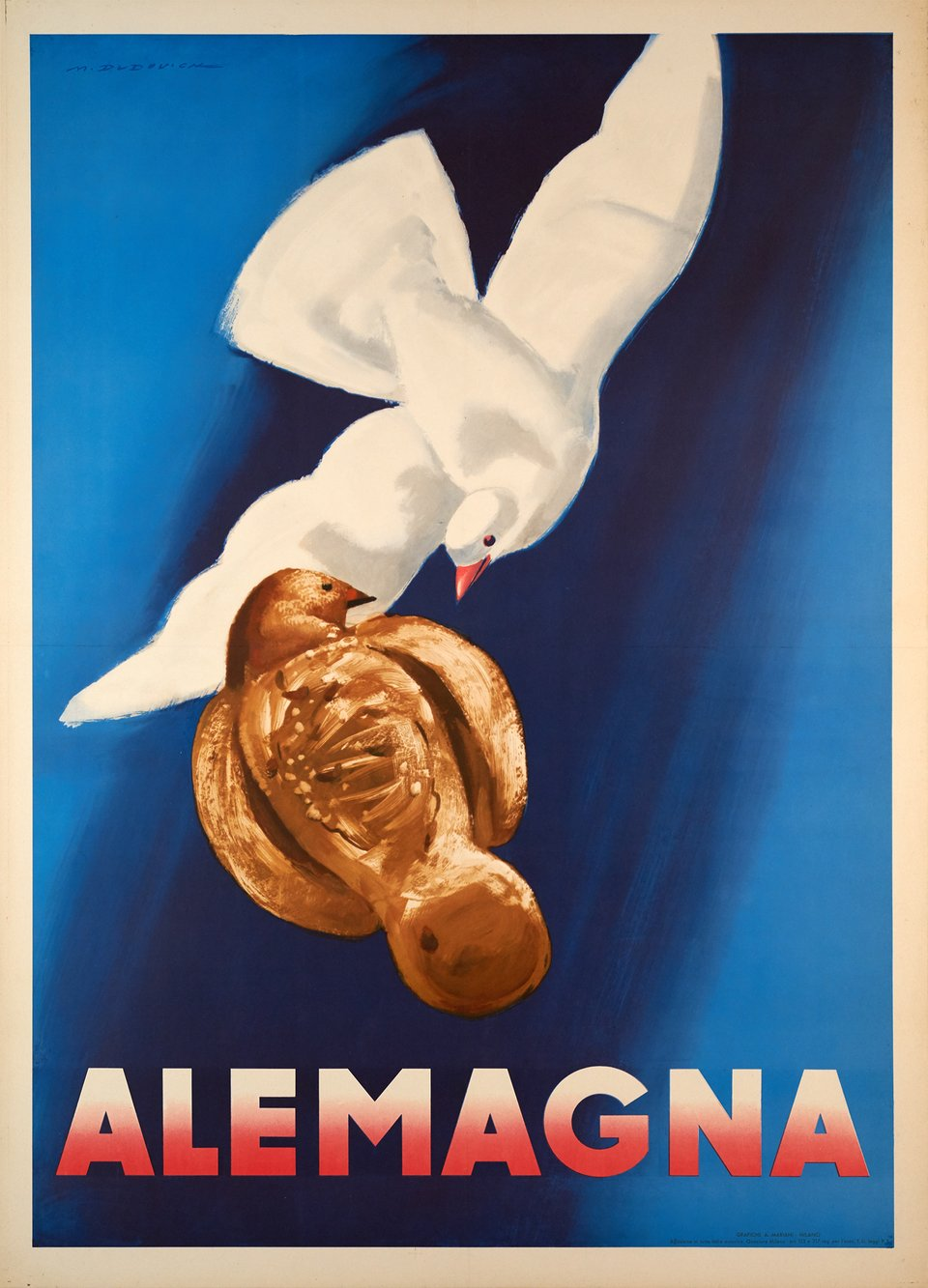 Alemagna – Affiche ancienne – Marcelo DUDOVICH – 1948
