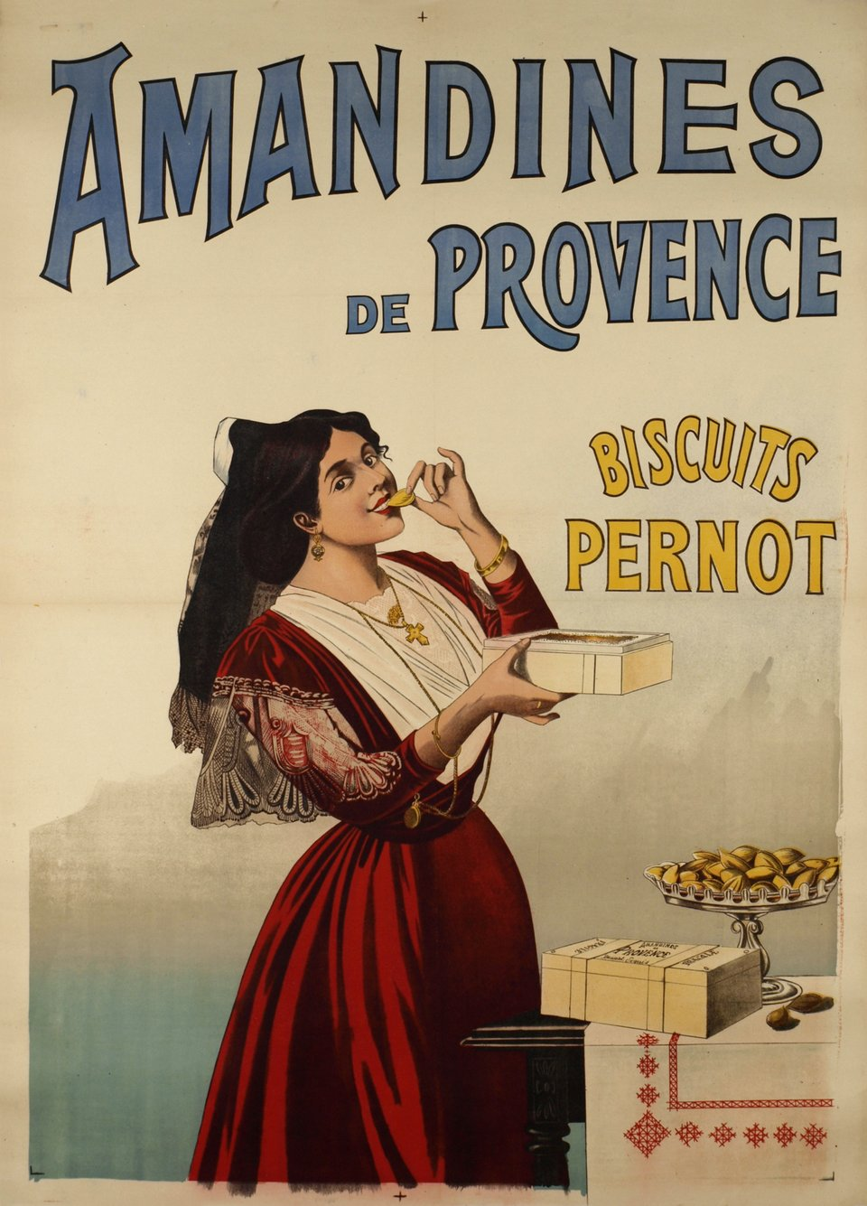 Amandines de Provence, biscuits Pernot – Vintage poster – ANONYMOUS – 1900
