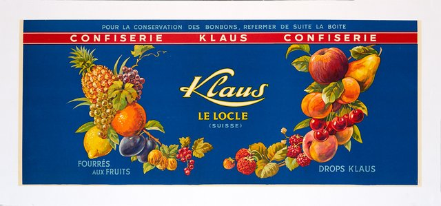 Confiserie Klaus Le Locle, fourrés aux fruits