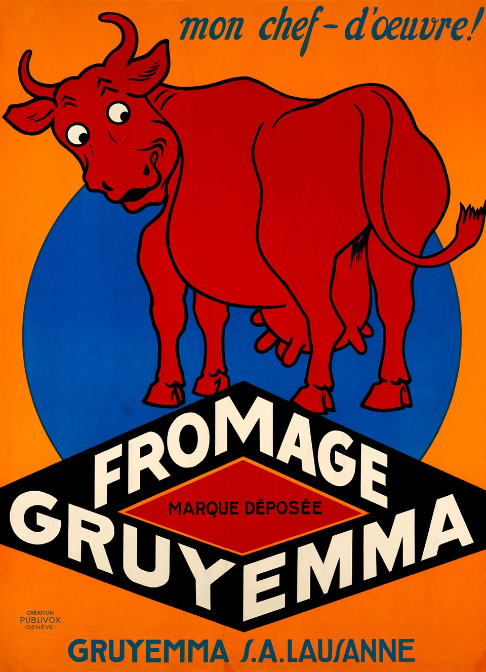 Fromage Gruyemaa, mon chef d'oeuvre – Affiche ancienne –  ANONYME – 1930