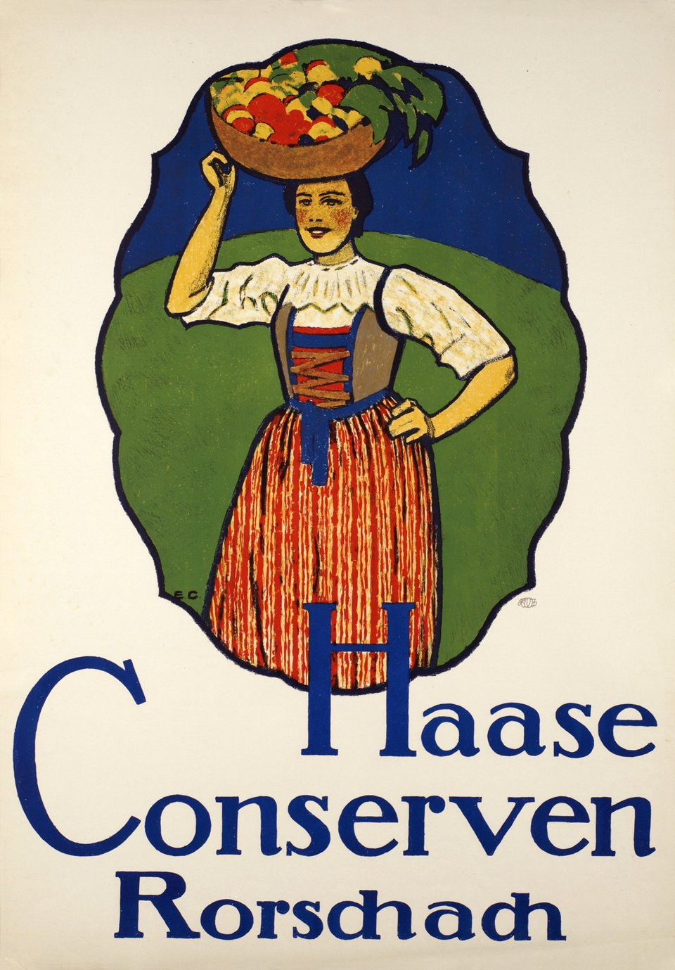 Haase Conserven Rorschach. – Vintage poster – Emil CARDINAUX – 1914