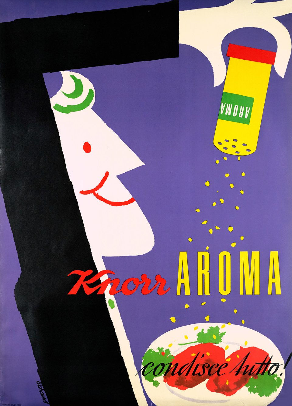 Knorr Aroma – Affiche ancienne – Hans P. SCHAAD – 1955