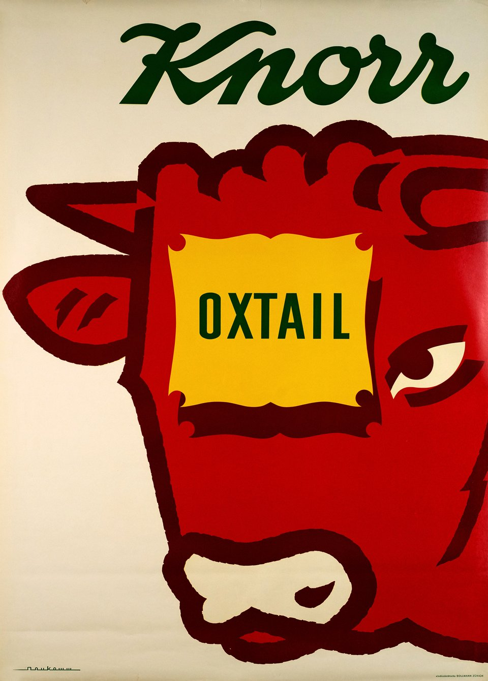 Knorr Oxtail – Affiche ancienne – Fred NEUKOMM – 1955
