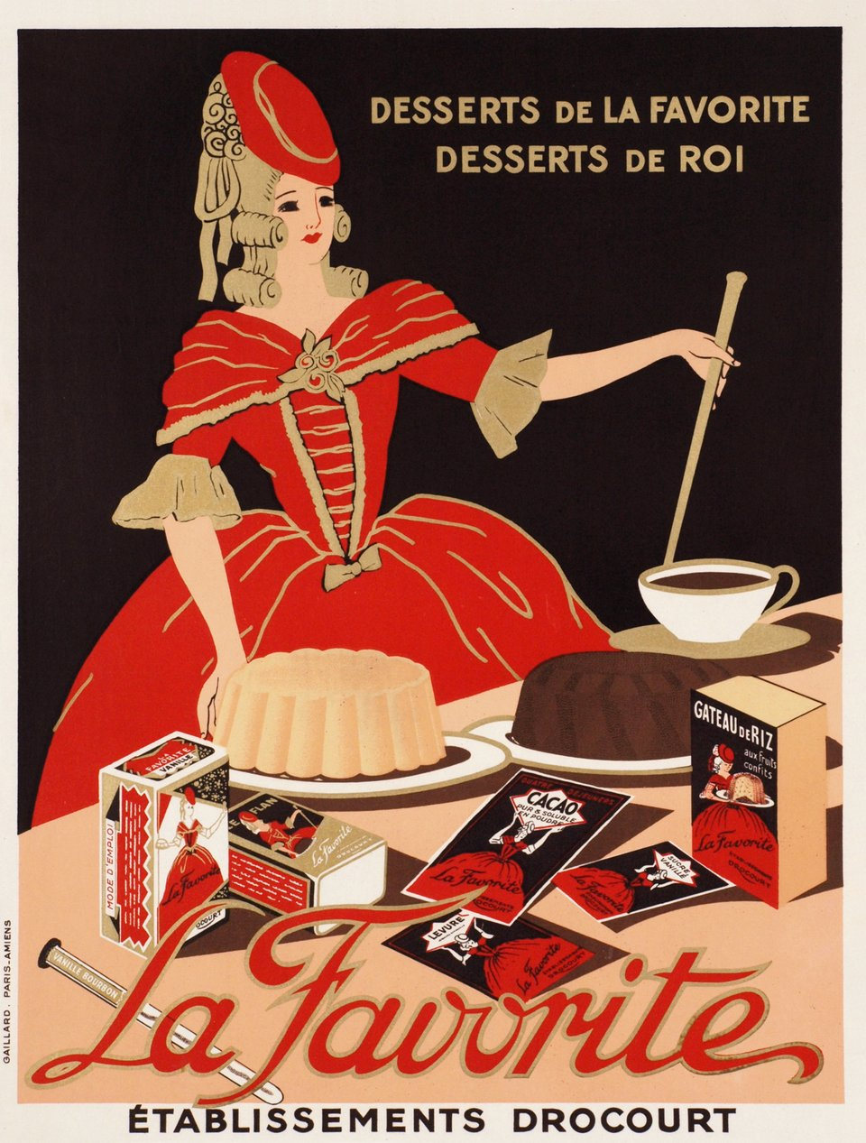 La Favorite, desserts de la favorite, desserts de roi – Affiche ancienne –  ANONYME – 1930