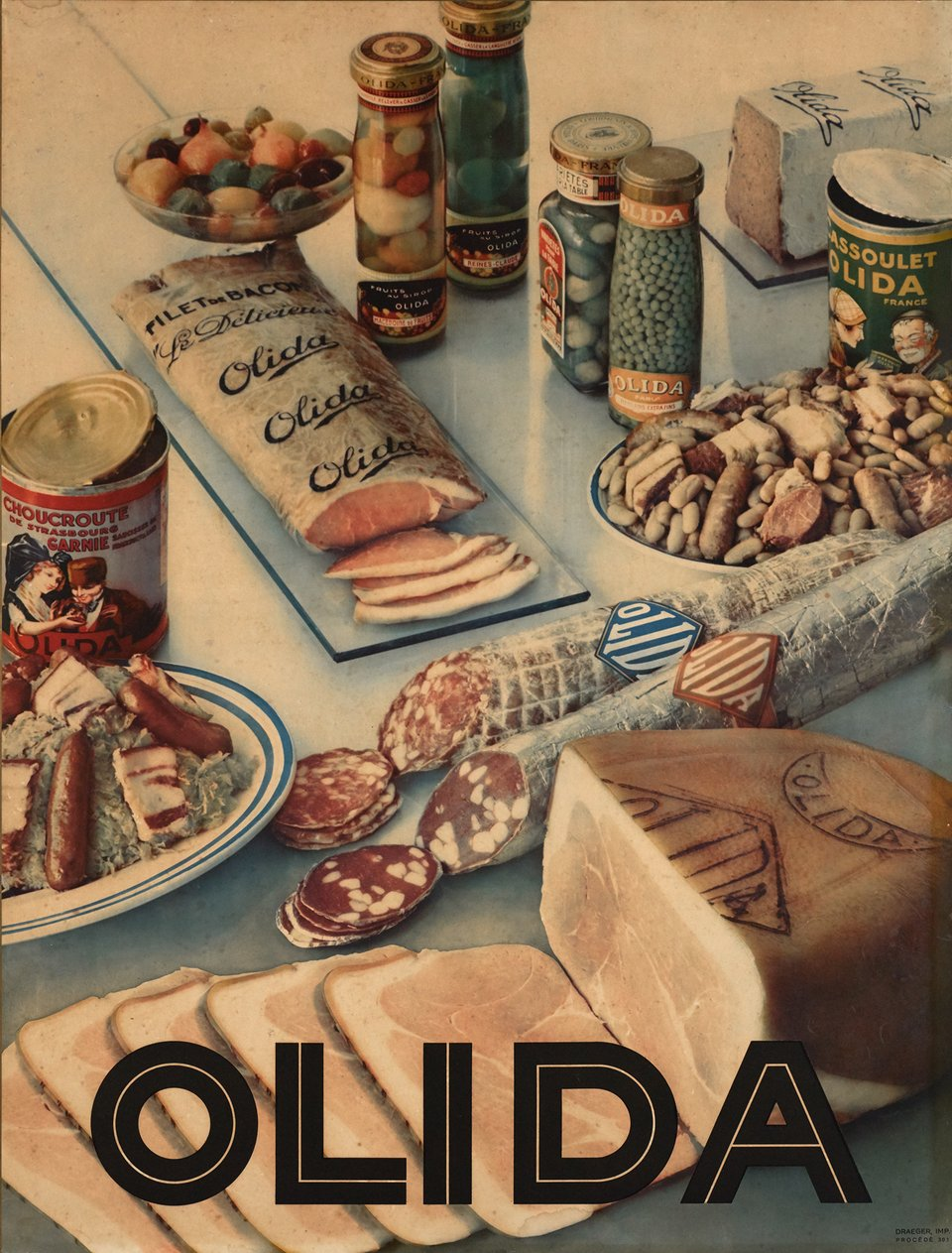 Olida – Affiche ancienne –  ANONYME – 1950